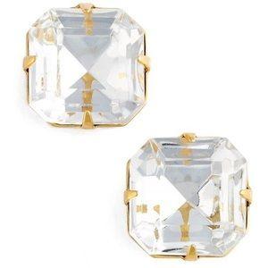 LOREN HOPE large CLEAR crystal stud earrings NWT